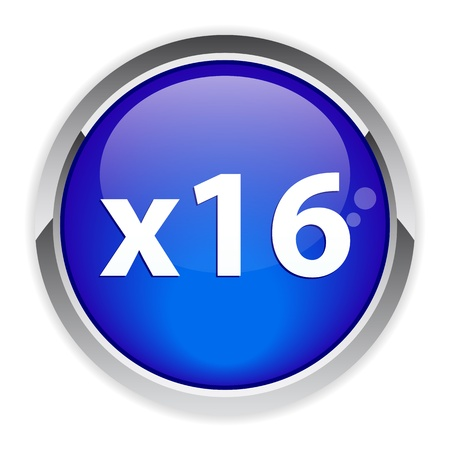 accelerated: button accelerated web icon x16 blue Illustration