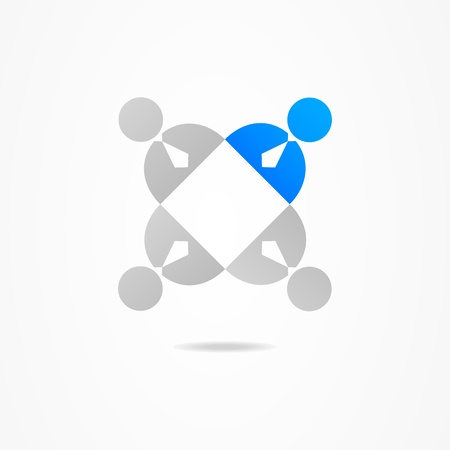 Graphic design web social network Illustration
