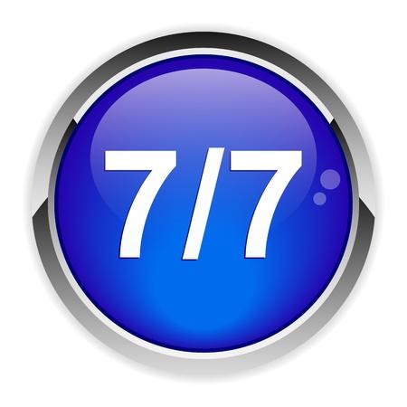 expulsion: bouton internet 77 icon Illustration