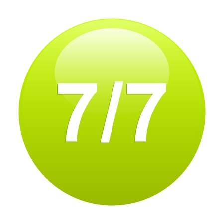 bouton internet 77 sign Vector