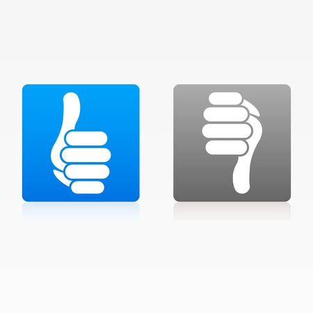 Icon Like Thumb Up Down Buttons web Vector