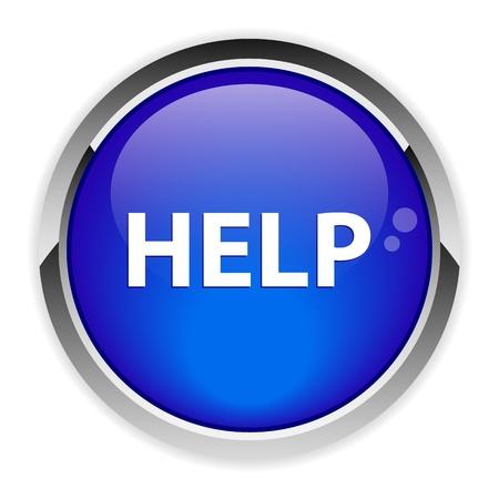 aide: bouton internet aide icon Illustration
