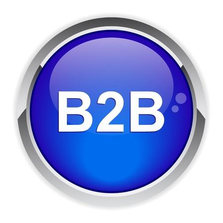 b2b: bouton internet B2B icono Vectores