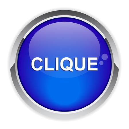 clic: bouton internet clic icon
