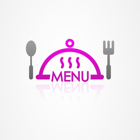 Kitchen menu on white background Vector