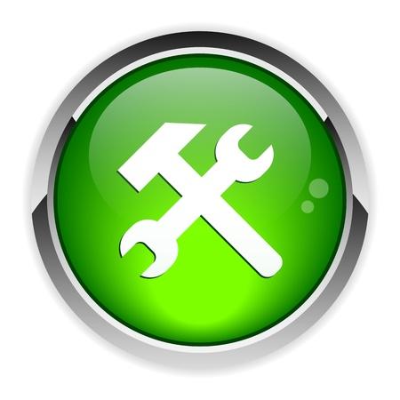 Button tools 3d icon Stock Vector - 22151620