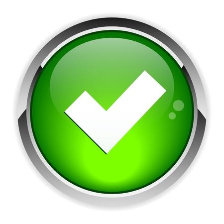 Button accept icon
