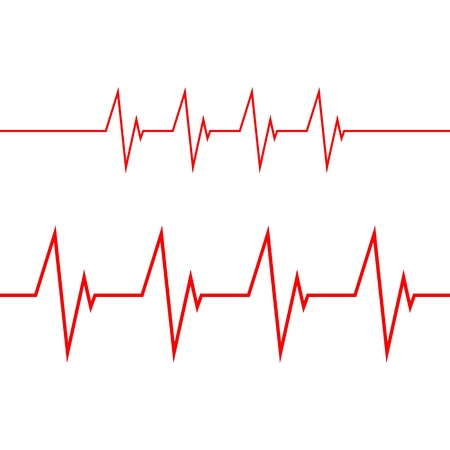 periods: cardiogram on white background Illustration