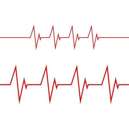 cardiogram on white background Illustration