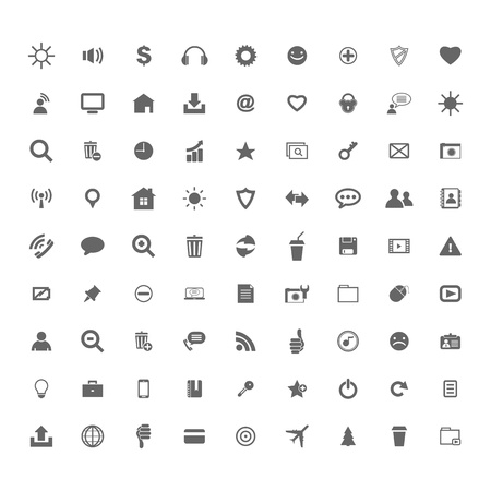 Business icons internet buttons Vector