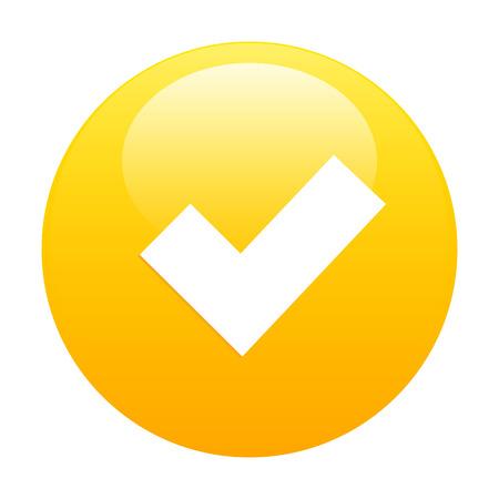 accepter: Bouton Accepter ic�ne orange Illustration
