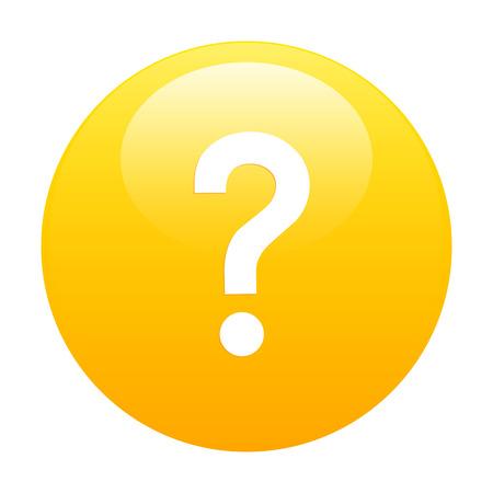 e survey: Bouton internet question icon orange Illustration