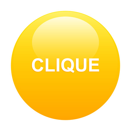 clic: bouton internet clic icon orange