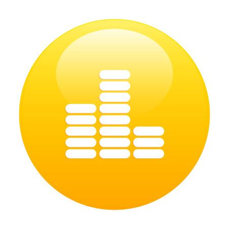 musique: bouton internet equalizer musique orange