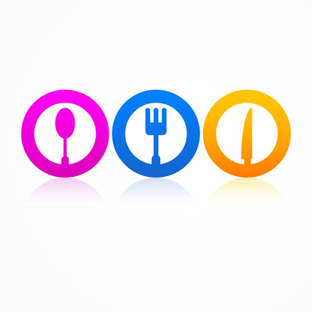 Abstract set kitchen icon Vector