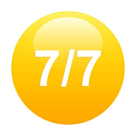 expulsion: Butbouton internet 7 7 icon orange