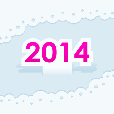 New year 2014 icon card Vector