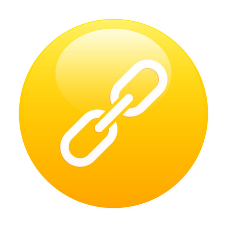 lien: bouton internet chaine lien icon orange