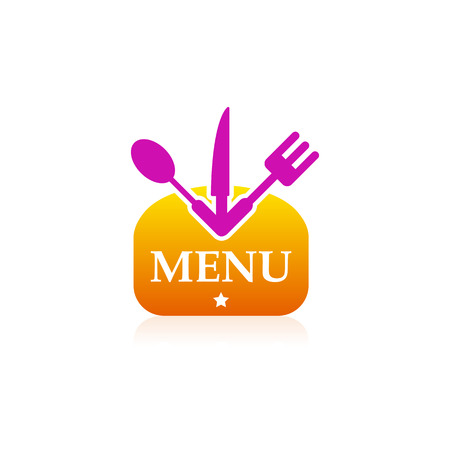 Kitchen sign icon menu bread Vector