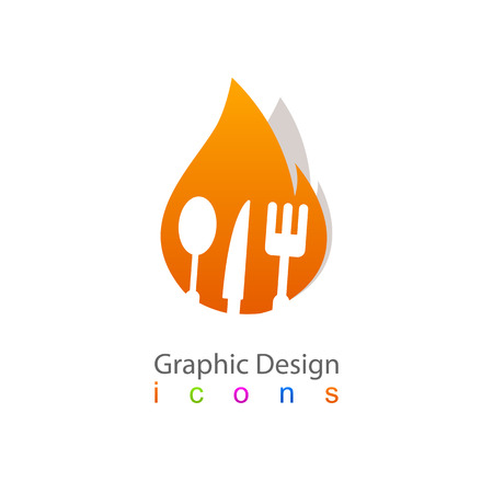 kitchen accessories fire icon Vector