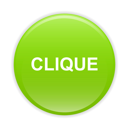 clic: bouton internet clic icon green sign Illustration
