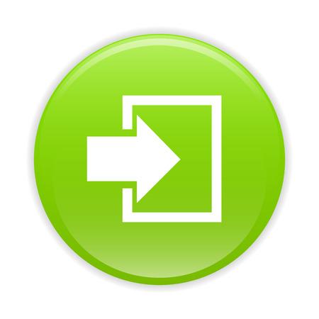 connexion: bouton internet connexion icon green sign
