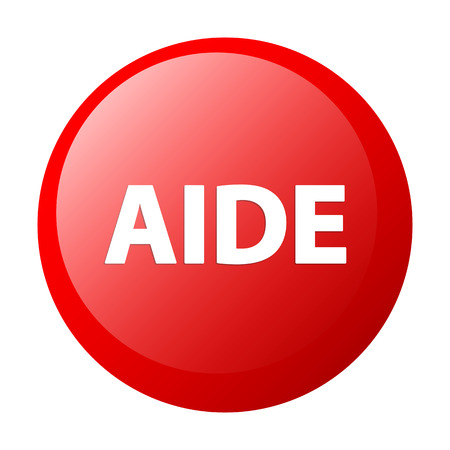 aide: bouton internet aide icon red