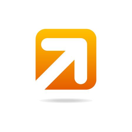arrow right icon: arrow right icon sign orange