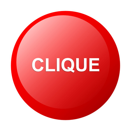 clic: bouton internet clique icon clic white background
