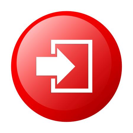 bouton internet connexion icon white background Illustration