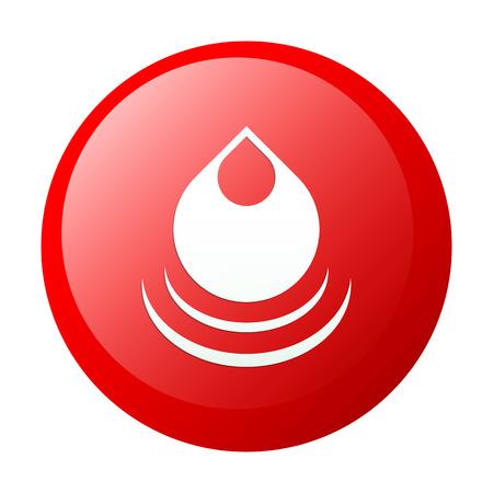 gota agua: icono rojo de agua ca�da bouton internet