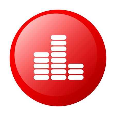 musique: bouton internet equalizer musique icon