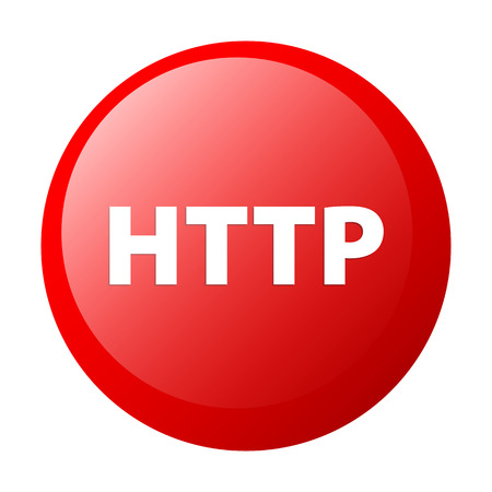 http: bouton internet http rotes Symbol