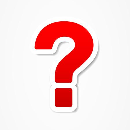 point d interrogation: le point d interrogation question Illustration