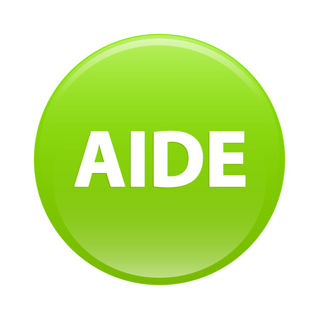 aide: button internet aide icon green sign Illustration