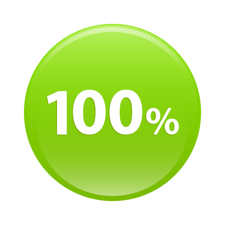 button internet 100  icon green sign hundred percent Vector