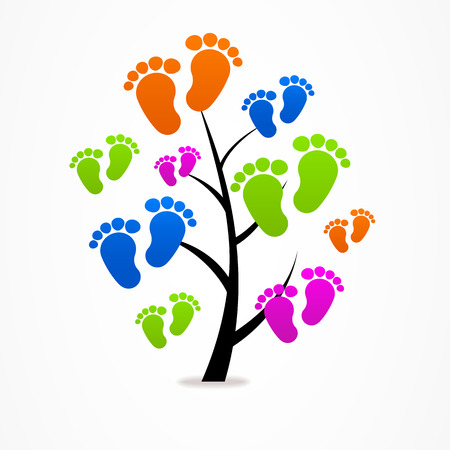 icon business abstract tree eco baby traces