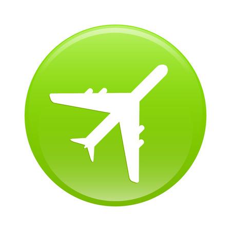 green sign: icona avion bouton internet segno verde