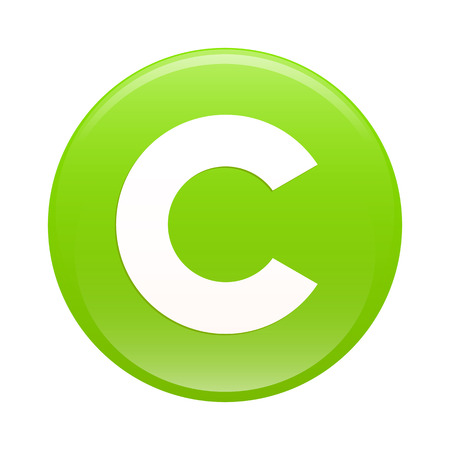 bouton internet copyright icon green web Vector