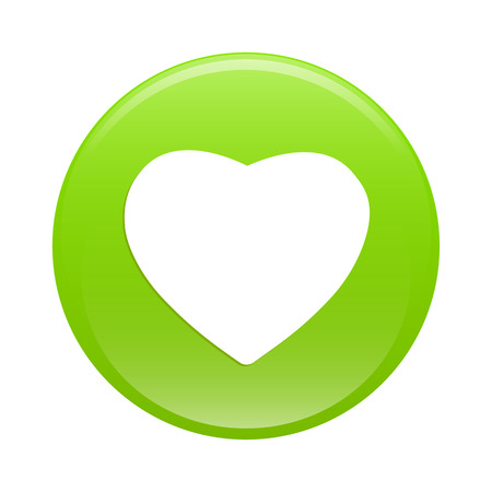 coeur: bouton internet coeur sign icon green web