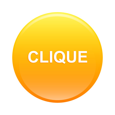 bouton internet clique icon clic orange web Vector