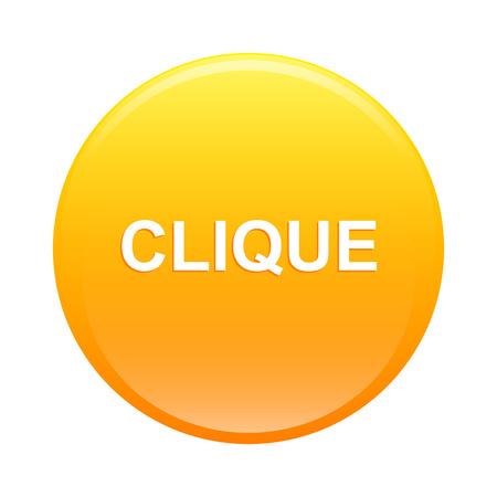 clic: bouton internet clique icon clic orange web