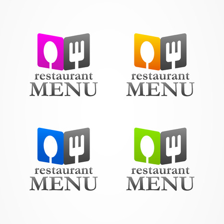 icon business abstract Restaurant Menu Ilustrace