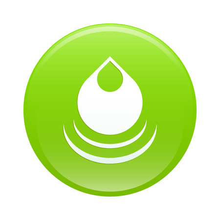 gota agua: agua ca�da bouton internet web verde