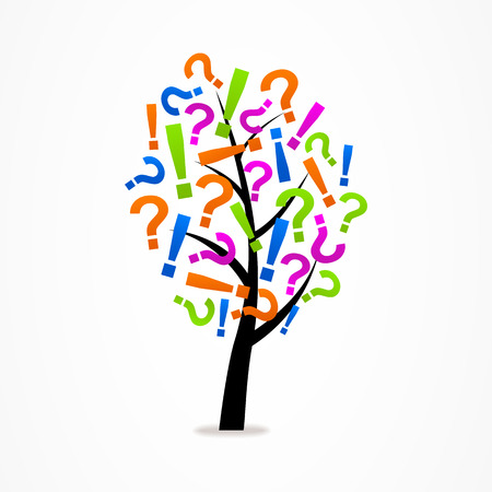 questioning: tree exclamation mark and question mark