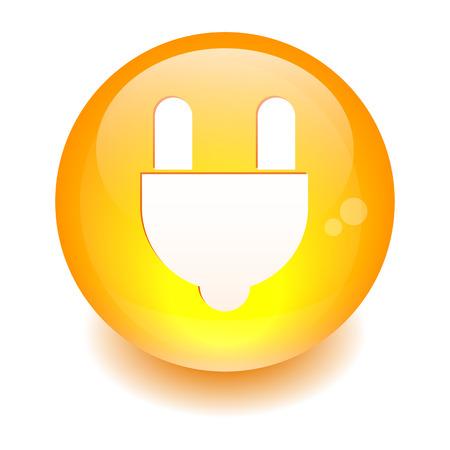 plugins: bouton internet prise electric power orange