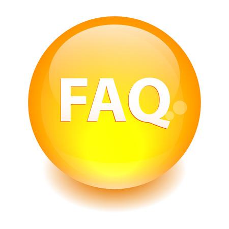 faq icon: bouton pregunta internet FAQ icono naranja
