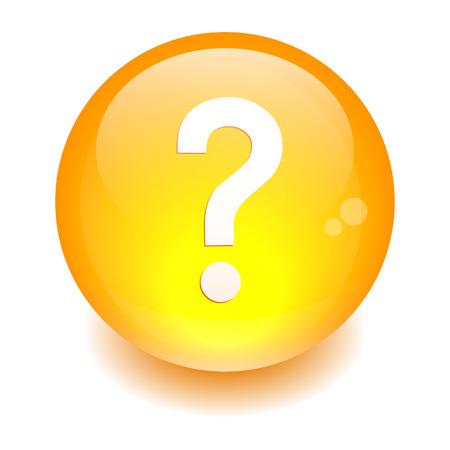 questioning: bouton internet Frage icon orange