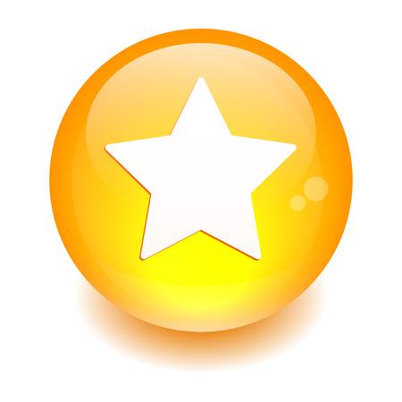 beep: Bouton Web Favori star icon orange
