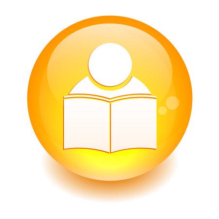 apprenticeships: button icon internet formation sign orange Illustration